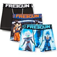 Freegun Bóxer para Niños - Dragon Ball Super Goku Et Gohan (pack de 3)