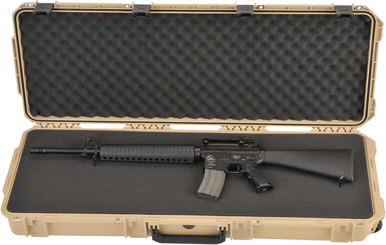 SKB Injection Molded 42-Inch Utility Short Rifle Case Desert Tan