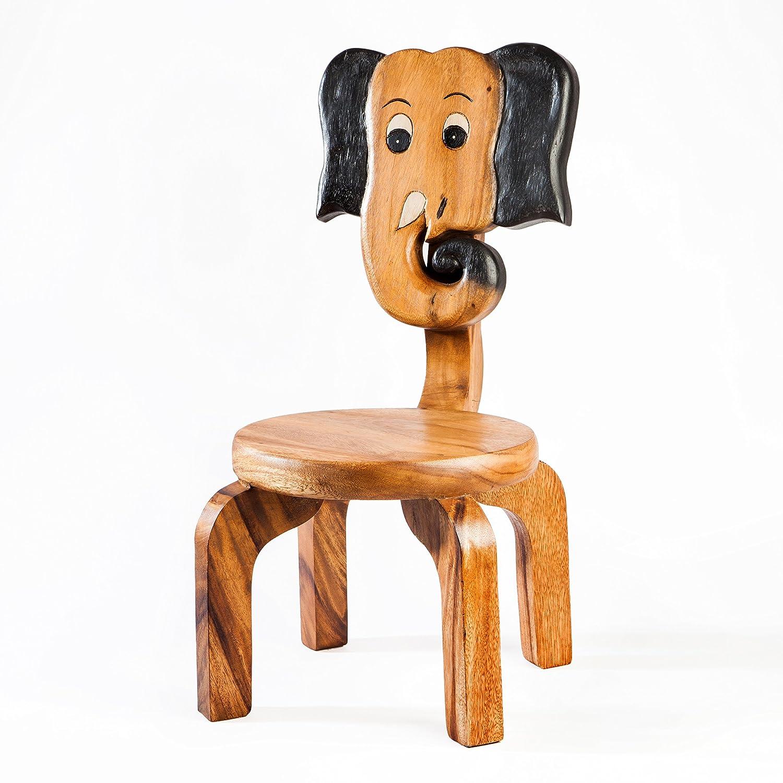 Robusta Sedia per Bambini, in legno, motivo: elefante Fairentry