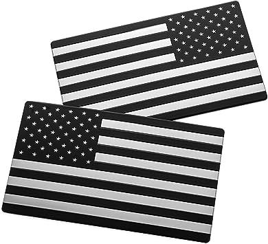 Eyecatcher Aufkleber Mit Usa Flagge Schwarz 2 Stück Auto