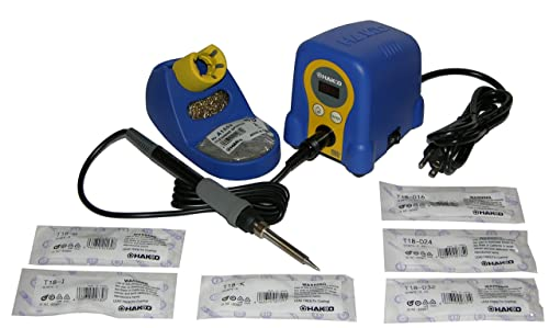 Hakko FX888D-23BY Digital Soldering Station with T18-B, I, K, D16, D24, D32 Tips.