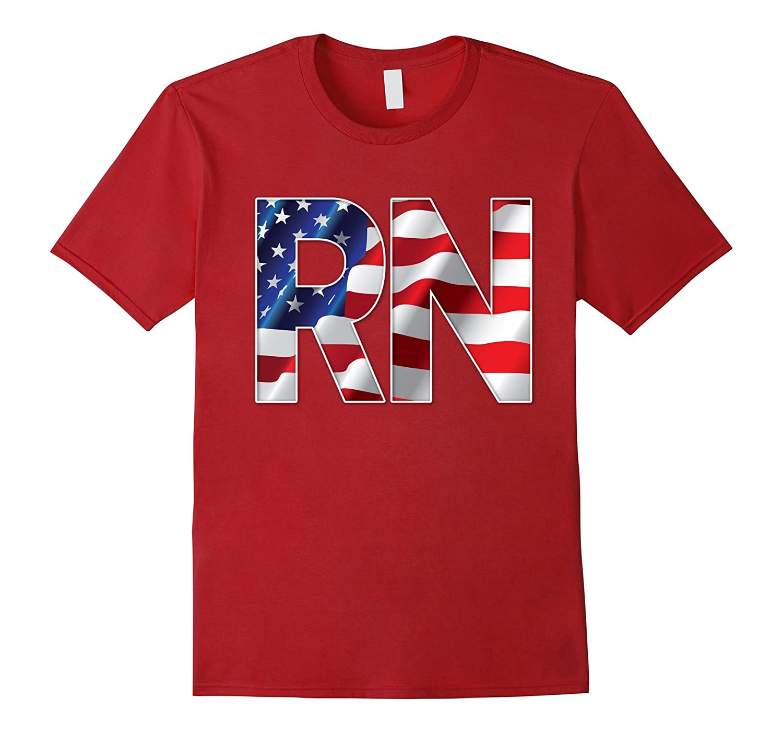 USA Flag RN T-Shirt-Vaci