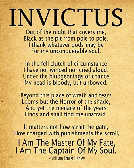 invictus poem by william ernest henley