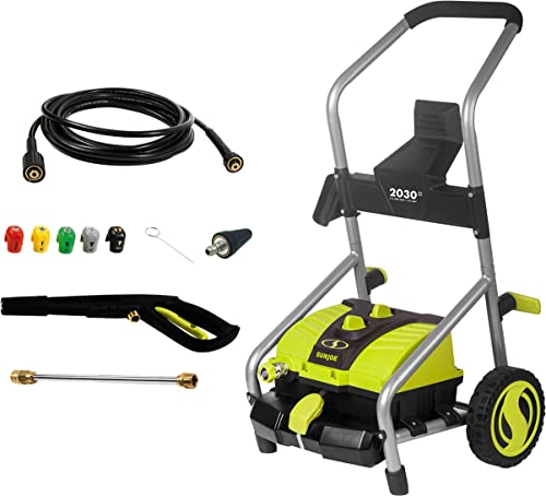 Homdox Electric Pressure Power Washer 3000PSI 1.8GPM Gas High Pressure Power Washer 1800W Machine Cleaner with Hose Reel, 5 Nozzles Green