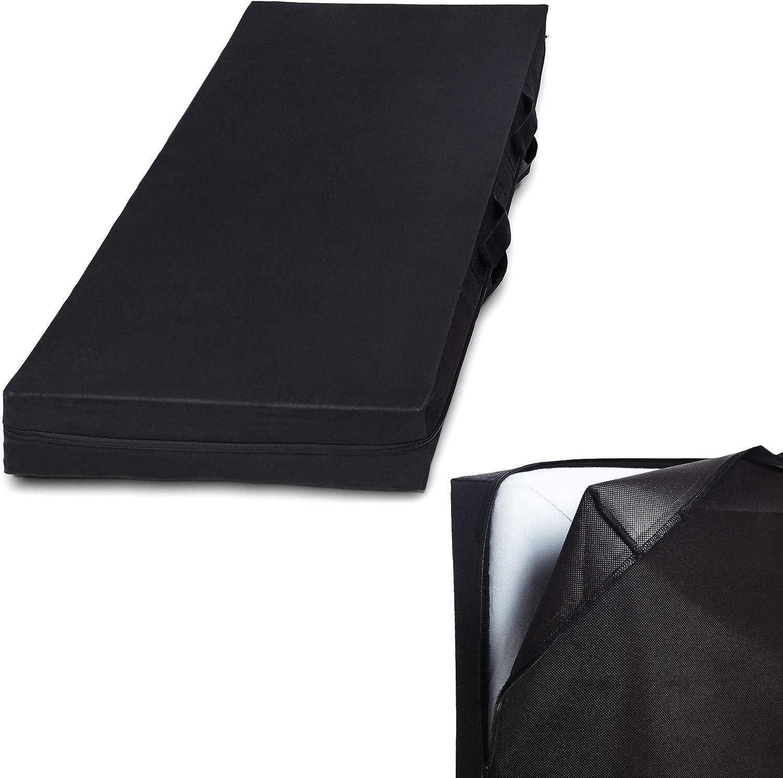 Lumaland Bolsa de Almacenamiento de colchón Ocho tamaños con Cremallera y asa Gris 90 x 200 x 25cm