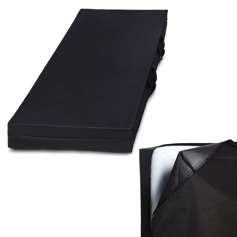 Lumaland Bolsa de Almacenamiento de colchón Ocho tamaños con Cremallera y asa Gris 90 x 200 x 25cm: Amazon.es: Hogar