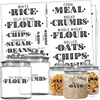 Talented Kitchen Farmhouse Pantry Labels – 36 Main Ingredients – Food Pantry Label Sticker. Black, Water Resistant, Food…