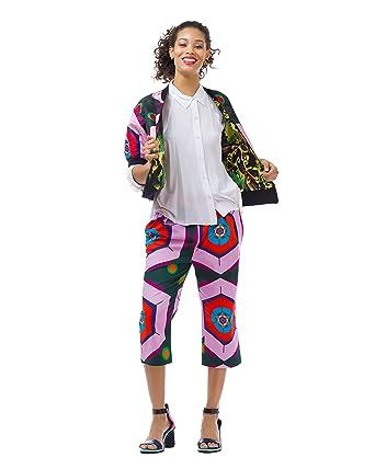 a14fe173991e Amazon.com  Cultro Women s Reversible Jacquard Printed Bomber Spring ...