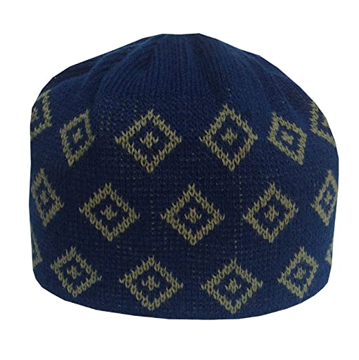 NDA Islamic Knitting Kufi Topi Prayer Hat Crochet Taqiyah Takke Skull Cap  Men Cap (Blue ed080900b3e