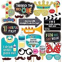 Generic Party Propz 1 St Birthday Photobooth 24 Pcs