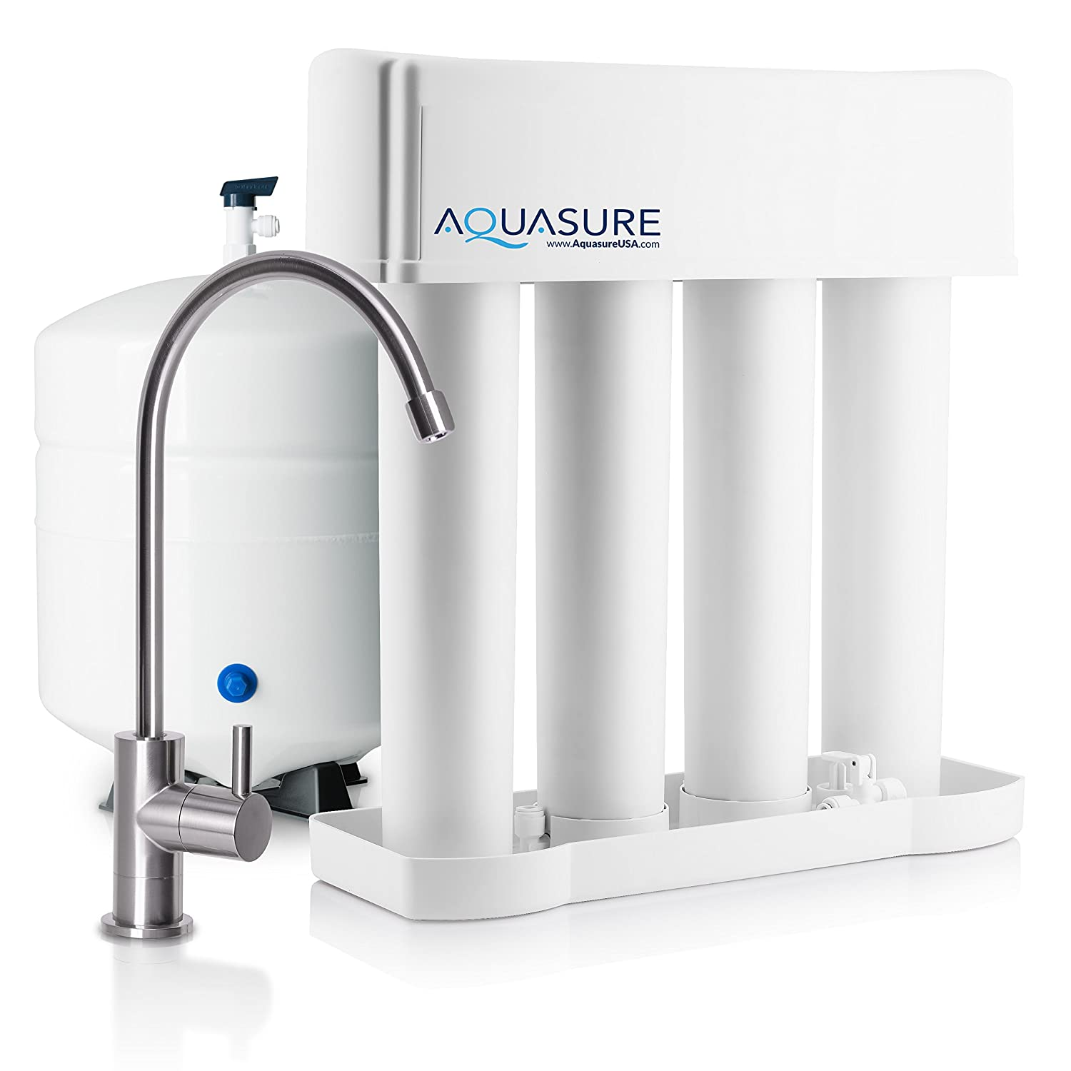 Aquasure Premier Reverse Osmosis Water Filtration System - 75 GPD Quick Change Water Filter