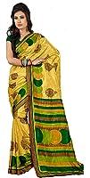 Samskruti Sarees Synthetic Saree (Spas-45_Yellow)