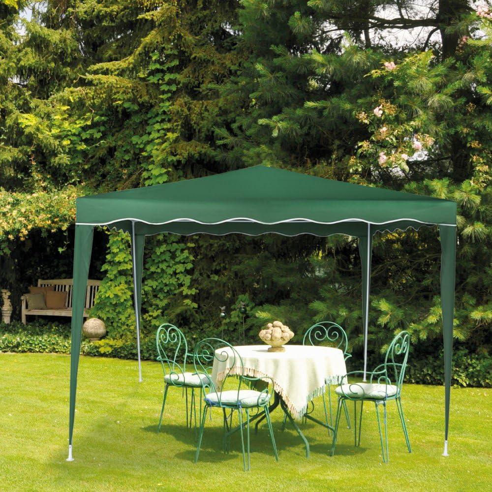 Aktive - Cenador de 300 x 300 x 250 cm, poliéster, color verde (ColorBaby 53858)
