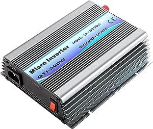 VEVOR Grid Tie Solar Inverter, 300W MPPT Power Inverter, 50/60 Hz Solar Grid Tie System, Grid Tie Inverter, DC 11-32V Input to AC 90-140V Output Wind Turbine Grid Tie Inverter for Solar Panel System