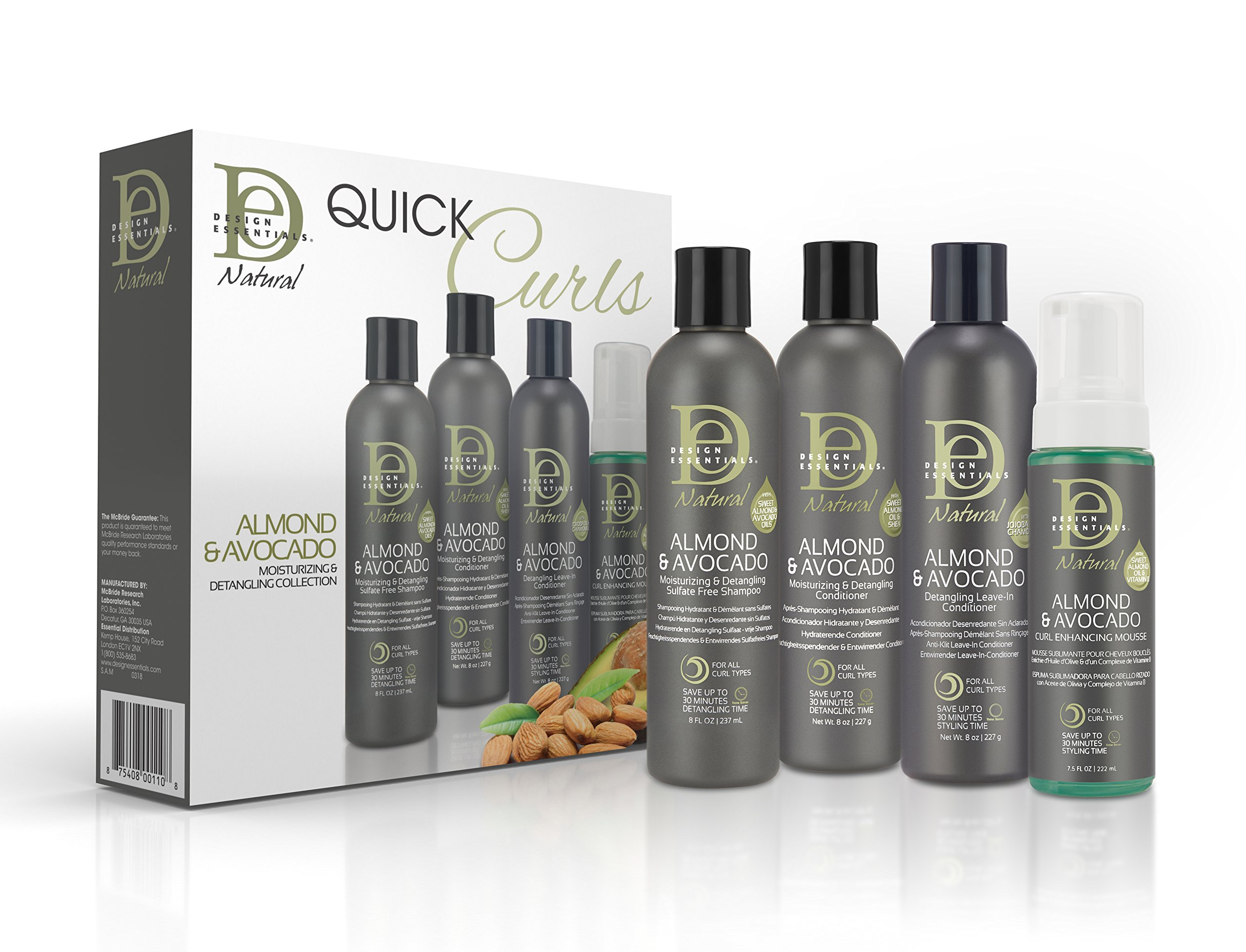 Design Essentials Natural Almond Avocado Quick Curls Box Exclusive