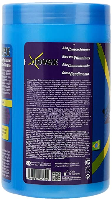 Embelleze Novex Hair Body Builder Treatment Cream - 14.1 Oz | Embelleze Novex Repositor de...
