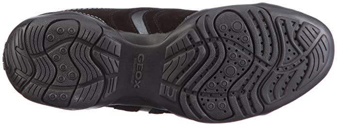 Geox DONNA ARROW D1320F00022C9999 - Zapatillas fashion de ante para mujer, Negro, 36