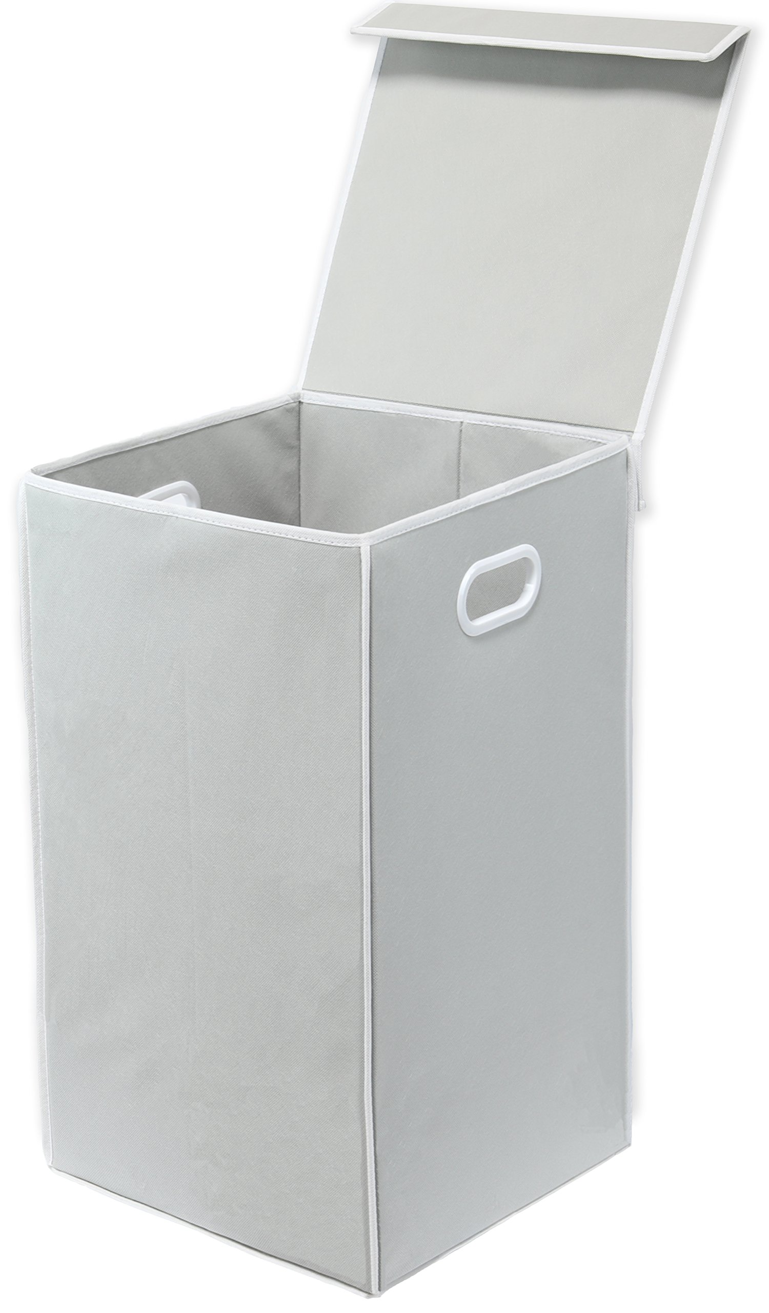 Simple Houseware Foldable Laundry Hamper Basket with Lid, Grey by Simple Houseware