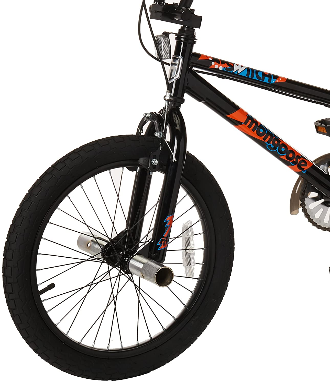 44b92250c61 Amazon.com : Mongoose Switch Children's BMX Sidewalk Bike, Featuring  12-Inch/Small Steel Frame, Front and Rear Handbrakes with Rear Coaster  Brake, ...