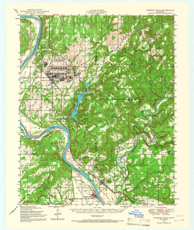 Amazon.com : YellowMaps Webbers Falls OK topo map, 1:62500 ...