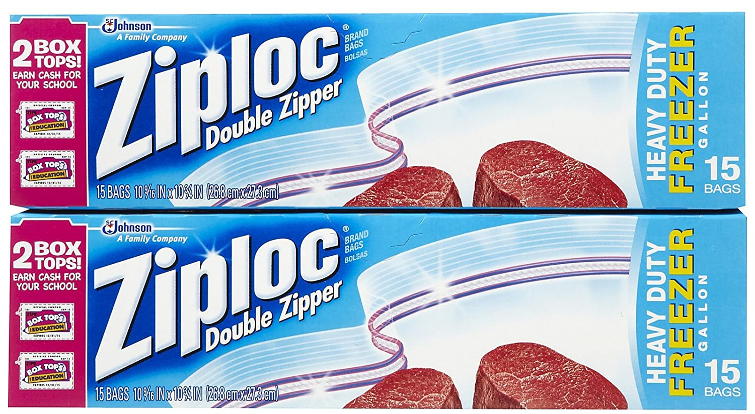 Amazon.com: Ziploc Freezer Bags - 1 gal - 15 ct - 2 pk ...