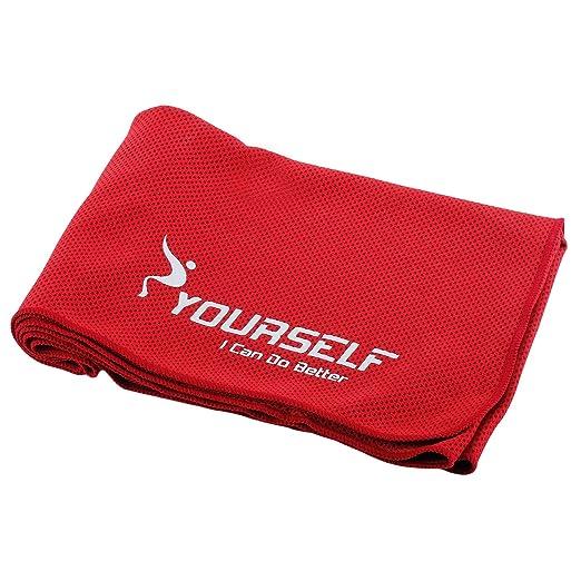 Syourself - Toalla refrescante para Alivio instantáneo. Toallas refrescantes para Yoga y Fitness de 100 cm x 30 cm. Se Usan como Bufandas refrescantes ...