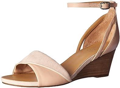58bf872c948 Franco Sarto Women s Deirdra Wedge Sandal Blush 6 M US