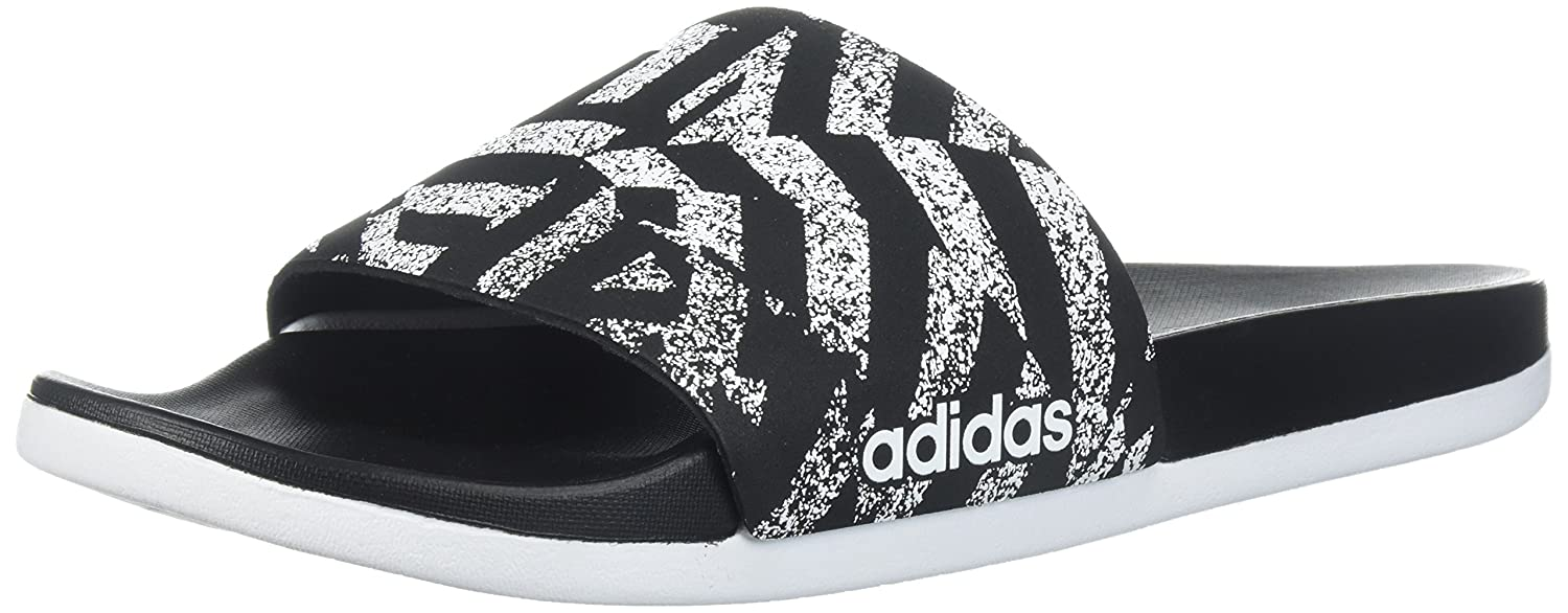 adidas Women's Adilette CF+ Link GR W Slide Sandal B0714CPM92 5 B(M) US|Core Black/White/Core Black