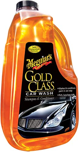 MEGUIAR'S G7164 Gold Class Car Wash Shampoo and Conditioner Hfsrq, 2Units