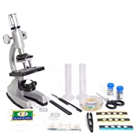 DynaSun GMPZ-C1200 Advanced Science Student Set Educational Metal Microscope Mag:1200x Complete Kit with many Accessories