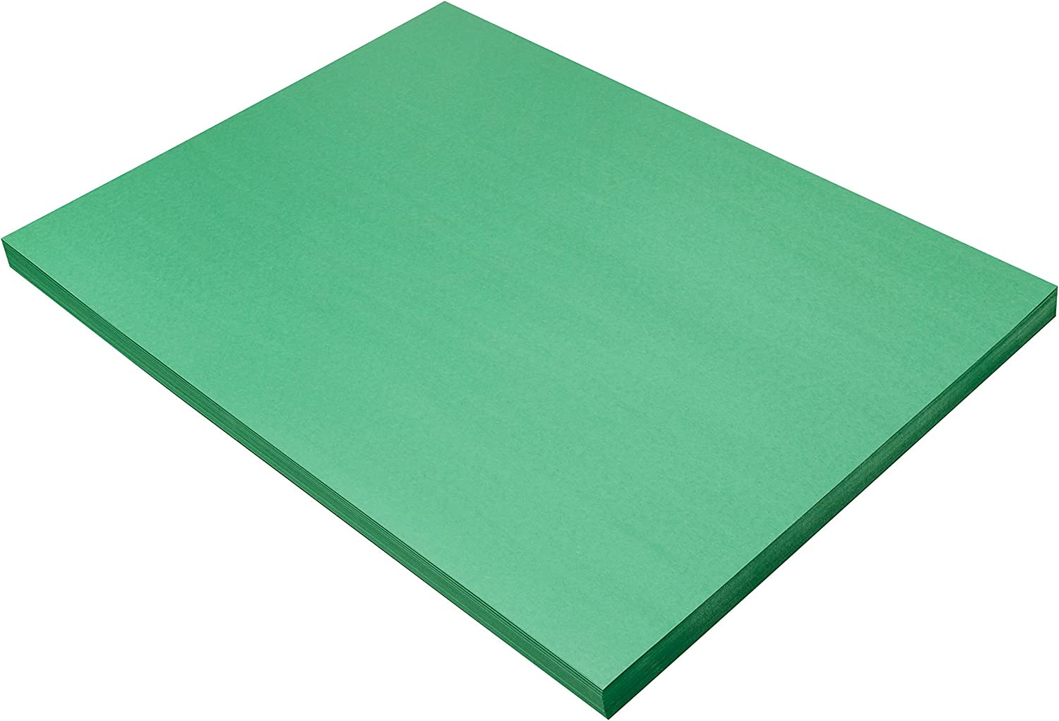 100 Sheets SunWorks Construction Paper Holiday Green 18 x 24