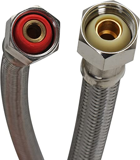 """3//8/"""" Female Compre Braided Stainless Steel Fluidmaster B6F12 Faucet Connector"""