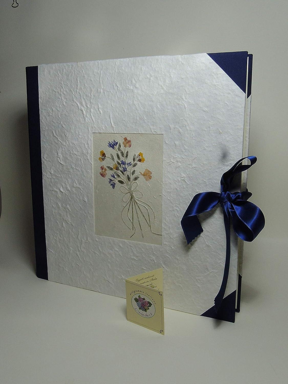 Album de fotos a mano 33x33-50 hojas - Papel Natural - cum caja flores