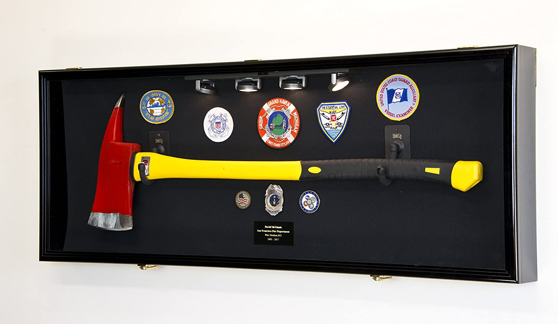 Firefighter Fireman Axe Display Case Cabinet Holder 98/% UV Lockable Fire Men