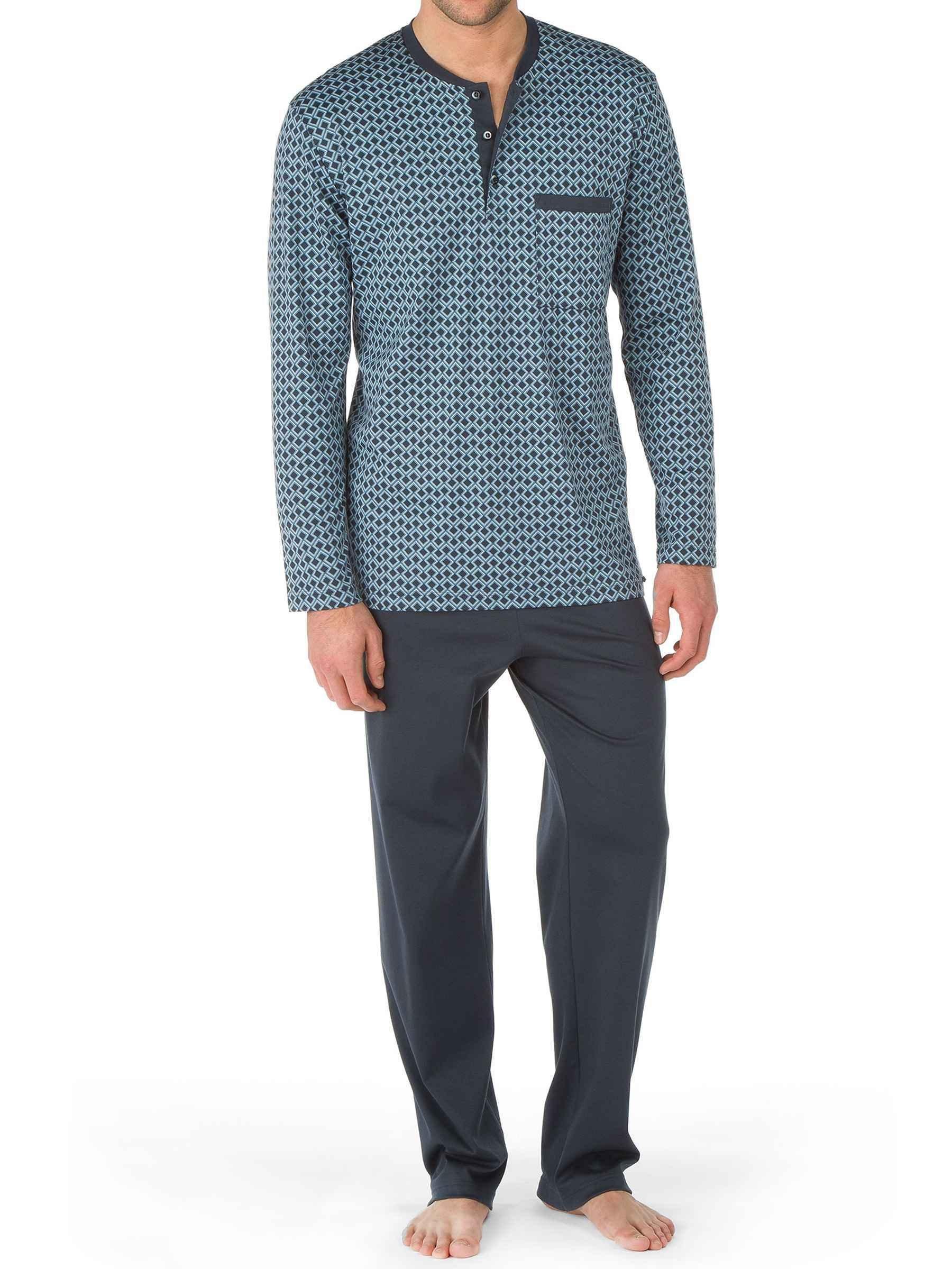 CALIDA mens 100% cotton knit mens pajamas NORRMALM 45566 (small, 989)