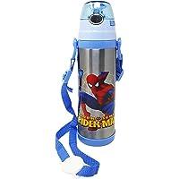 PARTEET Cartoon Spider Man Printed Stainless Steel BPA-free Water Bottle, Sipper for Kids, 500 ml, Multicolour