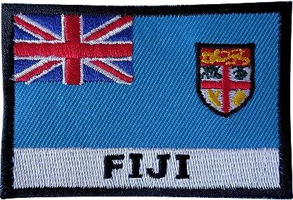 Parche bordado de la bandera de Fiji Coser en la chaqueta de ...