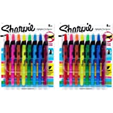 Sharpie Sharpie Accent Retractable Highlighter sEUqfJ, 2Pack (8-Count), Assorted Colors(Narrow)