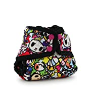 Rumparooz Newborn Cloth Diaper Cover Snap, tokiJoy - Phantom