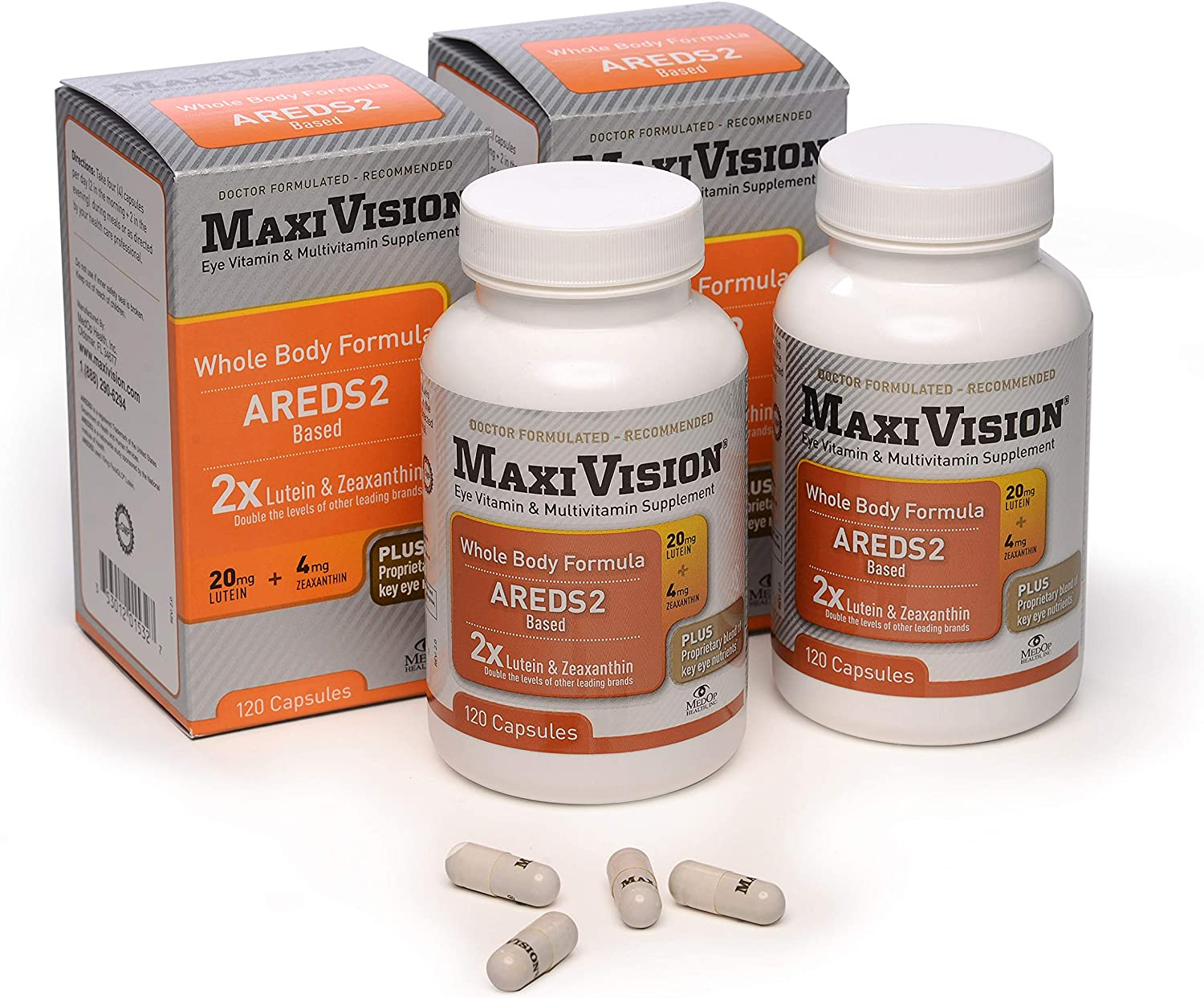 MedOp MaxiVision Whole Body Formula – 120 Capsules, 2 Bottles