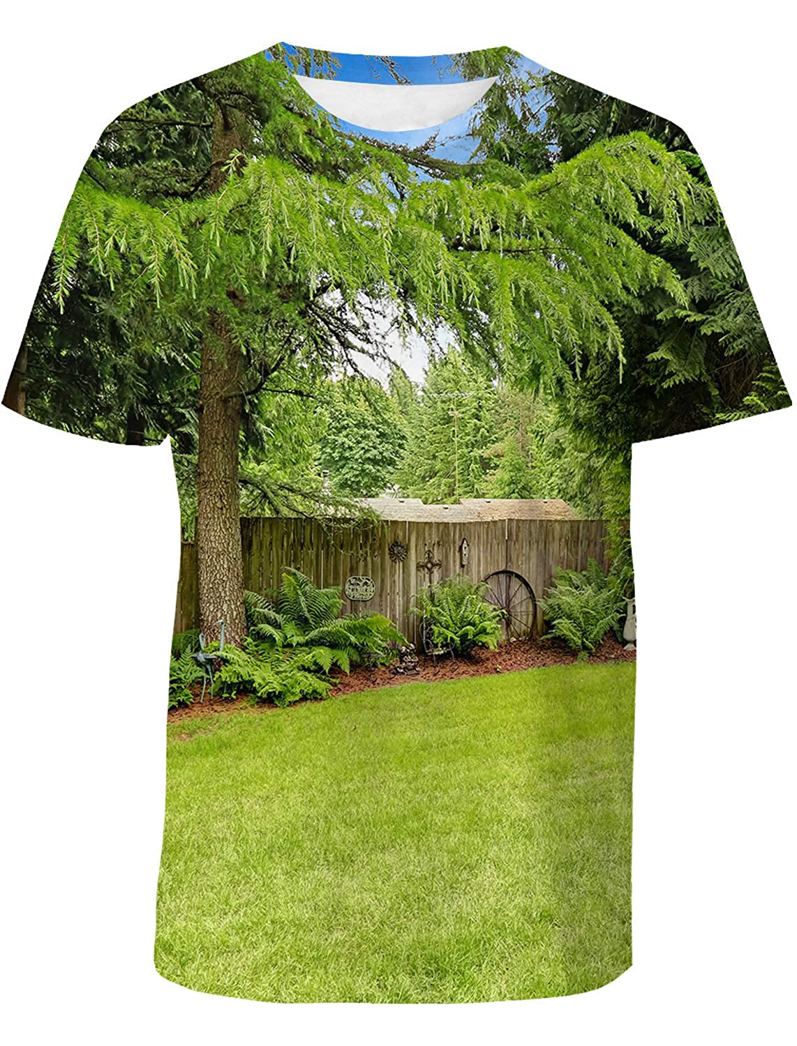SunShine Day Farm House Mens Everyday ComfortSoft Short Sleeve T-Shirt for Workout Running Sports
