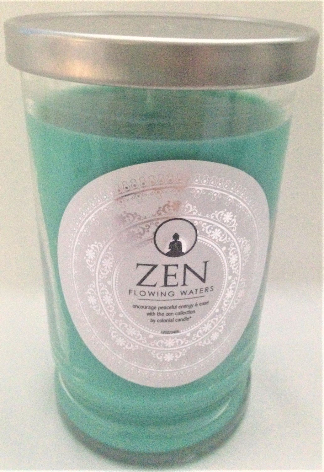 Zen Spa-Style Scented Candle ''FLOWING WATERS'' in Tumbler with Lid,12 oz.