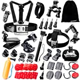 Zookki 40 in 1 Accessori Kit per GoPro Hero 5 4 3+ 3 2 1 Black Silver and SJ4000 SJ5000 SJ6000, Action Camera Accessories per Lightdow/Xiaomi Yi/WiMiUS/DBPOWER