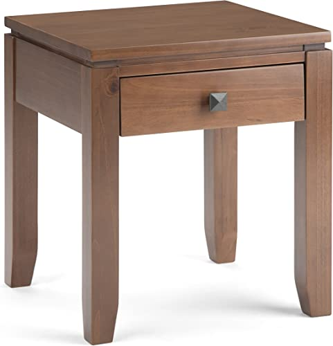 Simpli Home Cosmopolitan SOLID WOOD 18 inch wide Square Contemporary End Side Table