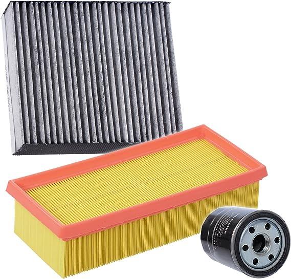 Inspektionspaket Set A 1x Ölfilter 1x Luftfilter 1x Innenraumfilter Pollenfilter Mit Aktivkohle Auto