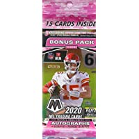 $27 » 2020 Panini Mosaic Football Factory Sealed Value Cello Fat Pack 15 cards 3 Exclusive Mosaic Camo Pink Parallels Plus 1 Other Mosaic Parallel Per…