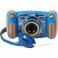 VTech Kidizoom Duo 5.0 Azul, cámara de Fotos Digital, Infantil con 5 megapíxeles, Pantalla a Color, 10 Funciones Diferentes, 2 Objetivos, (3480-507122)