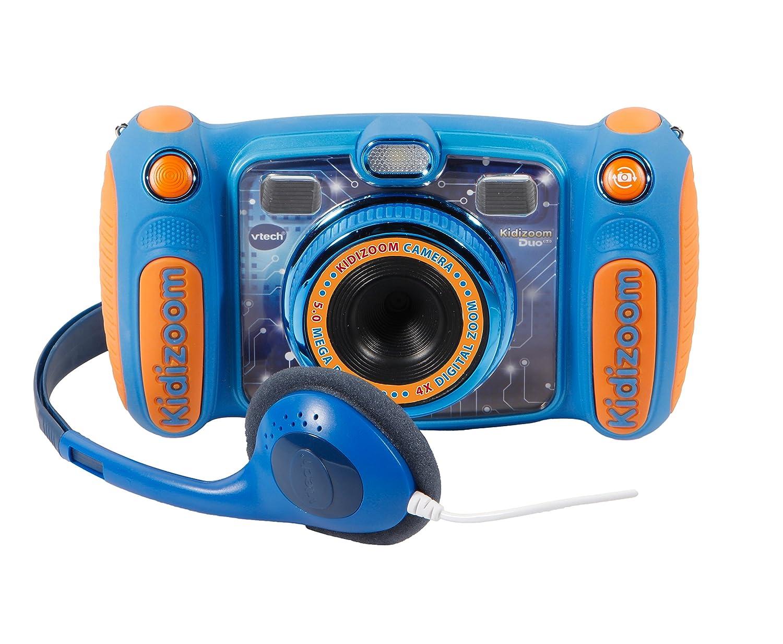 VTech Kidizoom Duo 5.0, appareil photo numérique, enfant avec 5mégapixels, écran couleur, 10fonctions différentes, 2objectifs (3480–507157) bleu 3480-507122