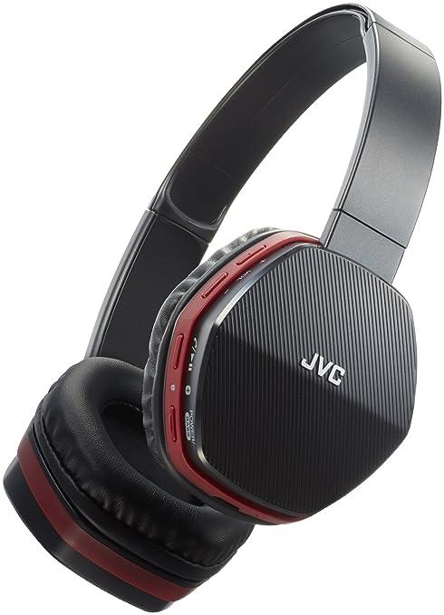 JVC HA-SBT5-R-E - Auriculares de Diadema con Bluetooth, Color Negro y