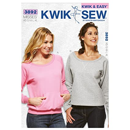 Amazon com: Kwik Sew K3892 Tops Sewing Pattern, Size XS